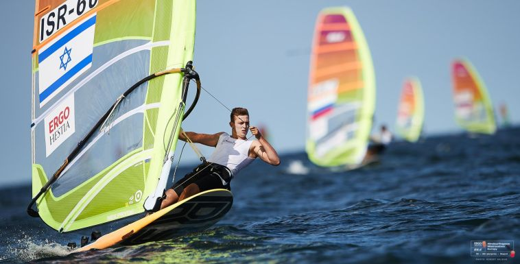 ראובני מדורג שלישי בפתיחת תחרות גלשני הרוח הבינלאומית