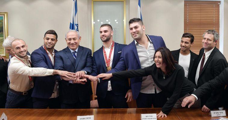 """נתניהו לשגיא מוקי ופיטר פלצ'יק: """"ישראל מעצמת ג'ודו"""""""