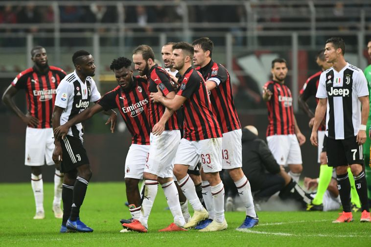יובנטוס ניצחה 0:2 את מילאן, היגוואין החמיץ פנדל והורחק