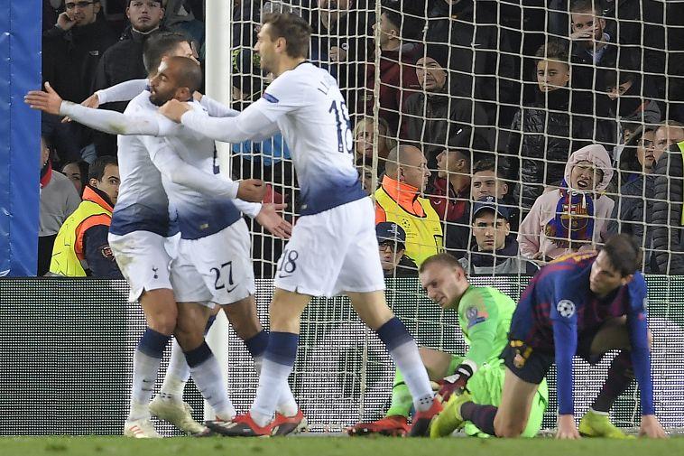 טוטנהאם עלתה לשמינית הגמר אחרי 1:1 נגד ברצלונה