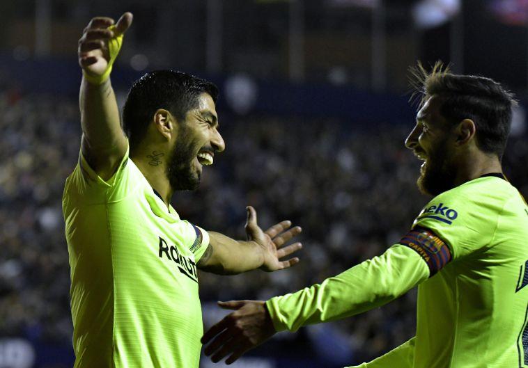 ברצלונה הביסה 0:5 את לבאנטה, שלושער ושני בישולים למסי