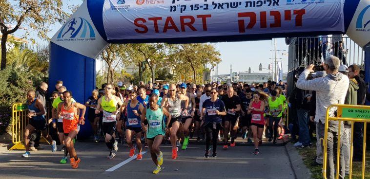 """צ'מטאי-סלפטר ואמרה הגיעו ראשונים באליפות ישראל ב-15 ק""""מ"""