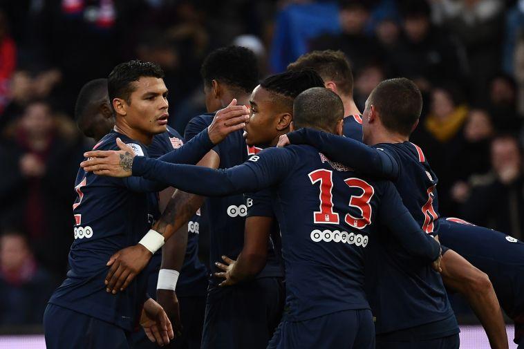 פאריס סן ז'רמן גברה על בורדו 0:1, קבאני כבש ונפצע
