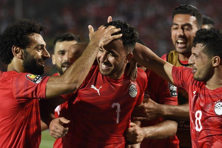 שחקני נבחרת מצרים חוגגים