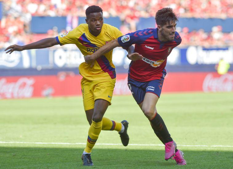 ברצלונה סיימה רק ב-2:2 מול אוסאסונה, פאטי עשה היסטוריה