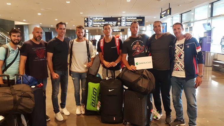 """נבחרת הדייויס נחתה בשטוקהולם, לוי: """"מגיעים בכושר טוב"""""""