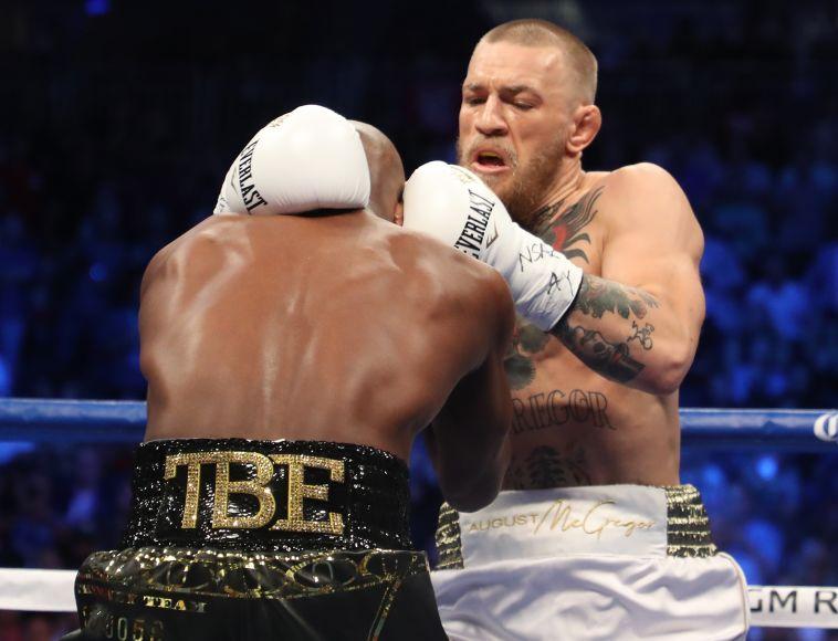 מייוות'ר לוקח את הקרב אך מקגרגור העייף (AFP)