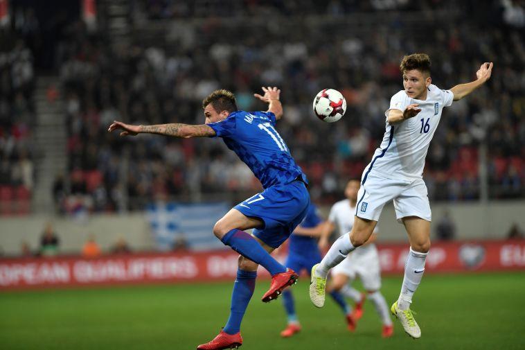 מריו מנדז'וקיץ'. משחק אגרסיבי של החלוץ (AFP)
