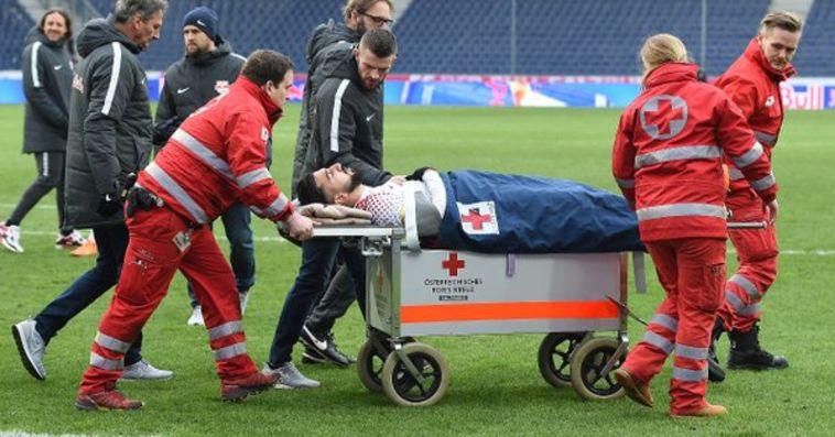 """דאבור נפצע באוסטריה. """"מקווה שבפעם הבאה אוכל לשחק בנבחרת"""" (טוויטר)"""
