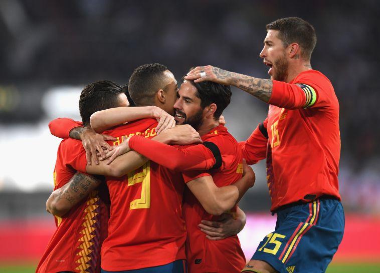 שחקני נבחרת ספרד. יחגגו גם במונדיאל? (גטי אימג'ס)