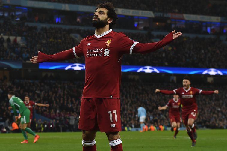 """סלאח. """"קשה להבקיע כל כך הרבה שערים"""" (AFP)"""