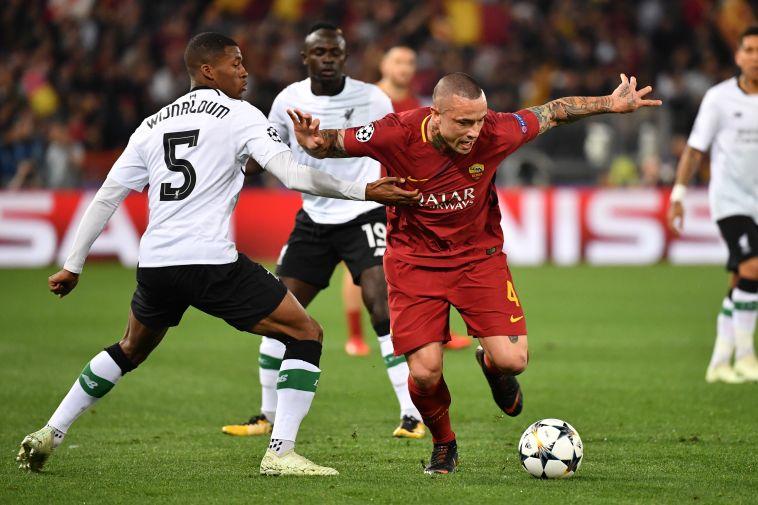 """הבלגי נגד ליברפול. """"הייתי משחק את חצי הגמר אפילו 10,000 פעמים נוספות"""" (AFP/GettyImages)"""