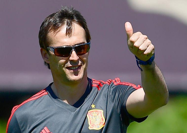 לופטגי בימיו בנבחרת ספרד (AFP)