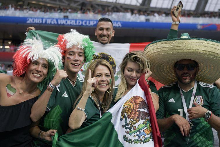 אוהדי נבחרת מקסיקו. סיבה לחגוג (AFP)