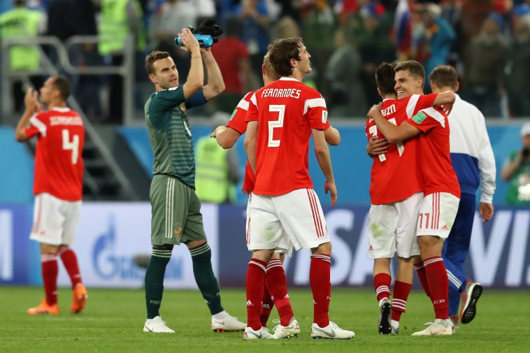 נבחרת רוסיה בכדורגל. מחוץ למונדיאל הקרוב ב-2022 (GettyImages)