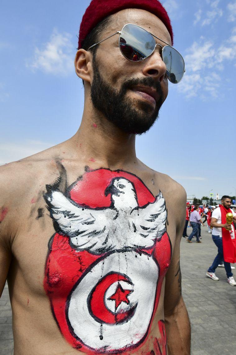 גם אוהד טוניסיה מוכן למשחק (AFP)