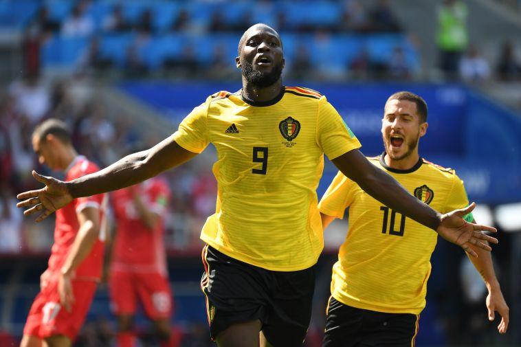 לוקאקו. שער שלישי בשני משחקים  (AFP)