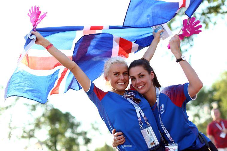 אוהדות נבחרת איסלנד. עדיין עם סיכוי להעפלה (Gettyimages)
