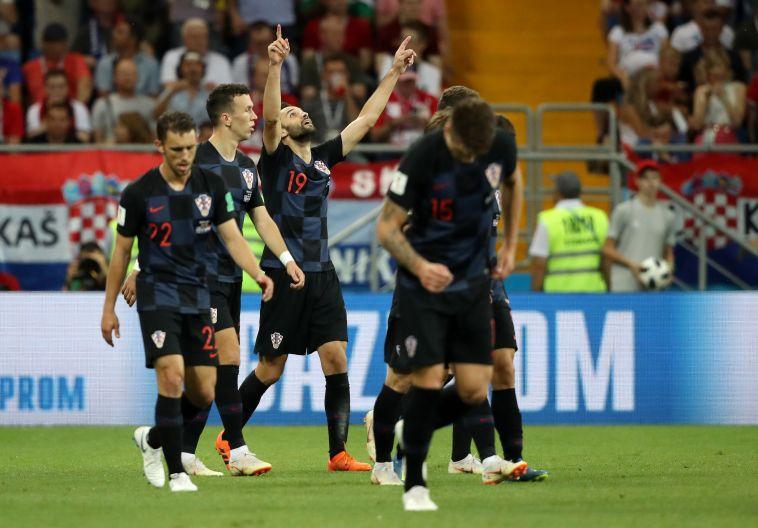 שחקני נבחרת קרואטיה חוגגים. מאזן 0:6 עד עכשיו (Gettyimages)