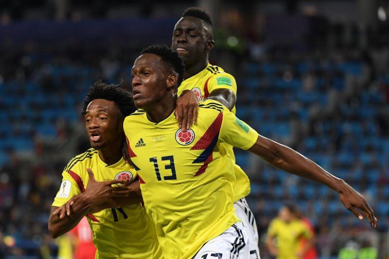 מינה חוגג. שער שלישי שלו בטורניר (AFP)