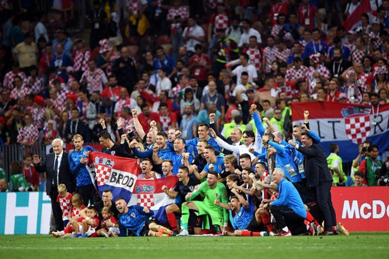 נבחרת קרואטיה. בעצם שיחקו משחק אחד יותר מאשר צרפת (GETTY IMAGES)