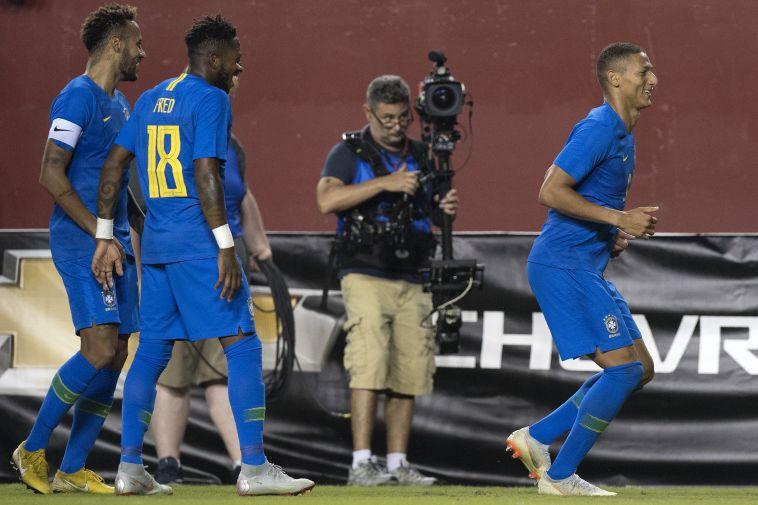 רישארליסון בנבחרת ברזיל (AFP)