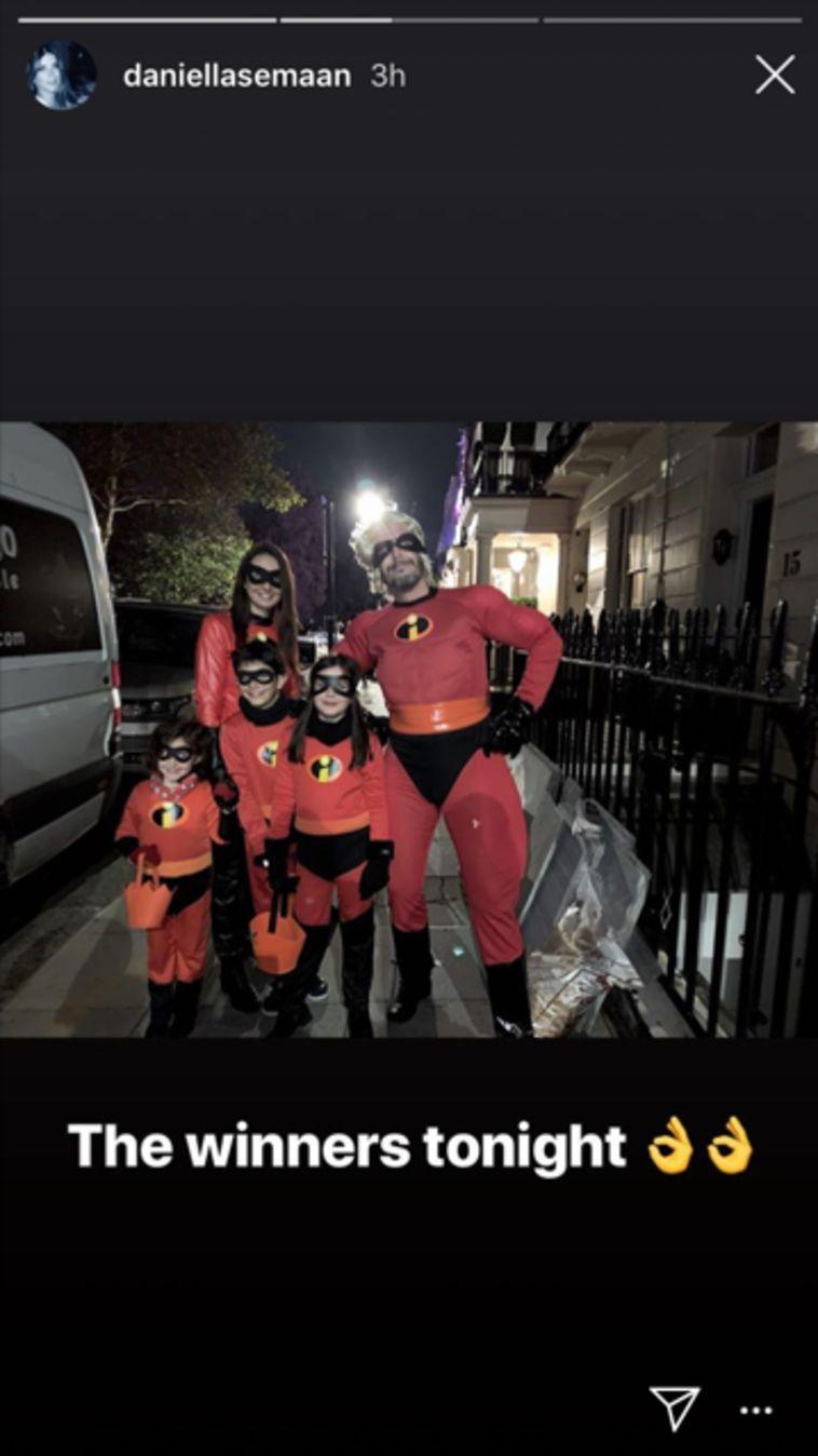 משפחת פברגאס המגניבה התחפשה למשפחת סופר על! ססק, דניאלה והילדים. אחד החזקים.