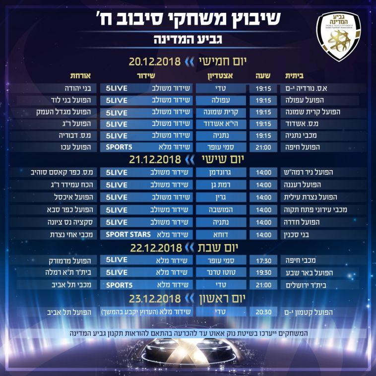 הרשימה המלאה של משחקי סיבוב ח' (ההתאחדות לכדורגל)