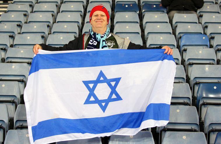 אוהד נבחרת ישראל, מהבודדים שהגיעו לסקוטלנד (אודי ציטיאט, גלאזגו)