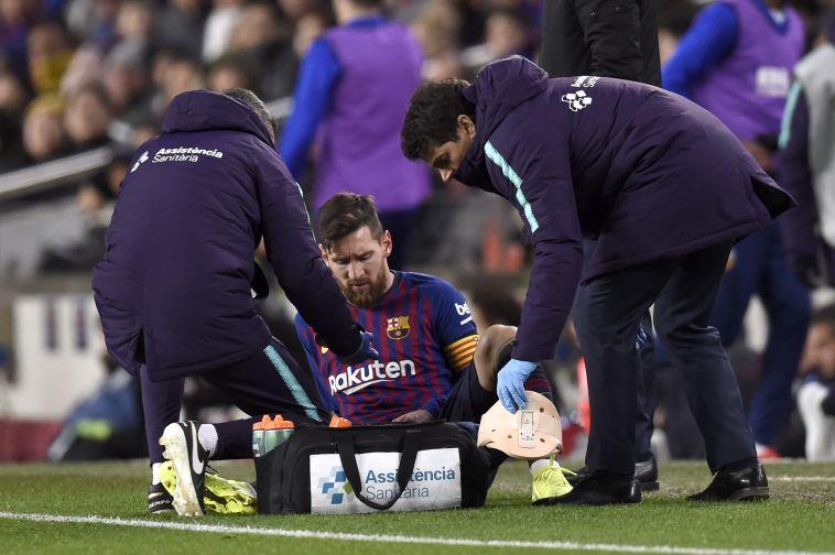 """הפציעה. """"אני עדיין לא 100%"""" (AFP)"""