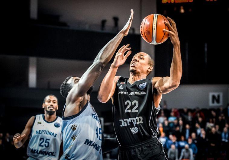 ג'וש אוונס. הוביל את ירושלים בדקות הפתיחה (FIBA)