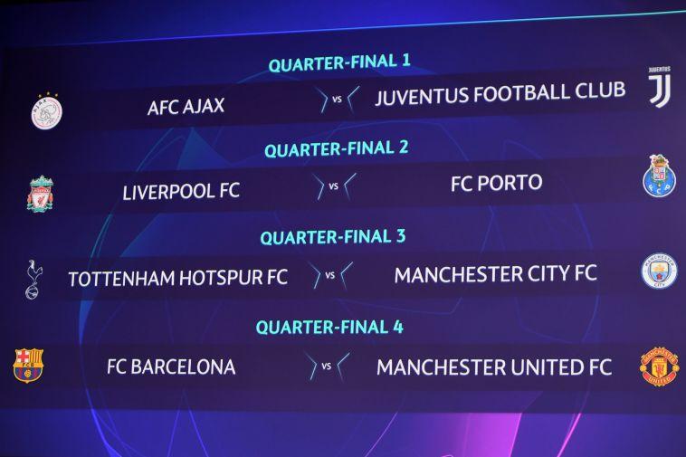 הגרלת רבע הגמר. ליברפול זכתה ליריבה הנוחה ביותר (AFP)