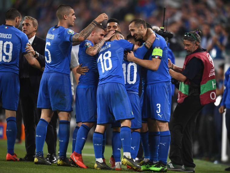 אינסינייה. שער לא פחות ממדהים שלו הציל את איטליה (MARCO BERTORELLO/Gettyimages)