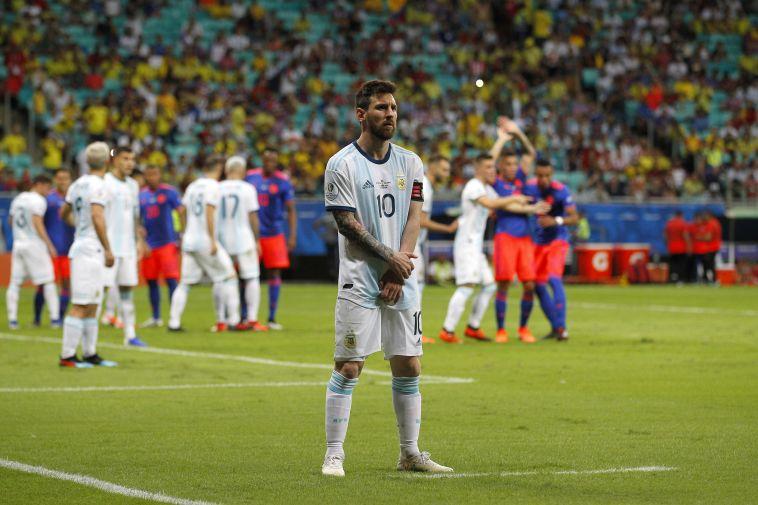 """מסי במדי נבחרת ארגנטינה. """"ביחסים טובים"""" (Wagner Meier/Getty Images)"""