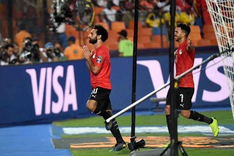 מוחמד סלאח. כיכב בניצחון הלילה בקהיר (KHALED DESOUKI/AFP/Getty Images)