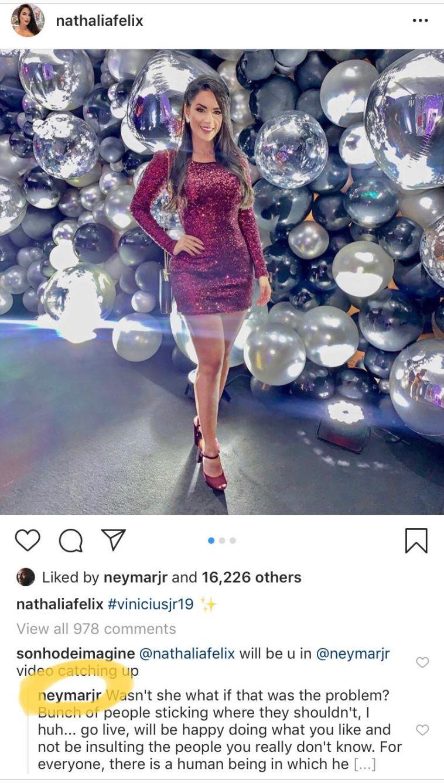תגובתו החריפה של ניימאר באינסטגרם (Instagram)
