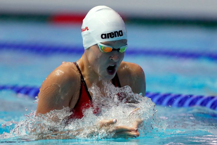 אנסטסיה גורבנקו. קבעה רף חדש (סימונה קסטרווילארי, באדיבות איגוד השחייה בישראל)