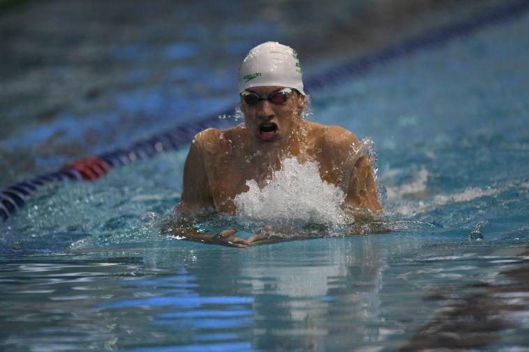 תחרות אחרונה לפני המעבר לבוגרים. רון פולונסקי (גיא יחיאלי, באדיבות איגוד השחייה בישראל)