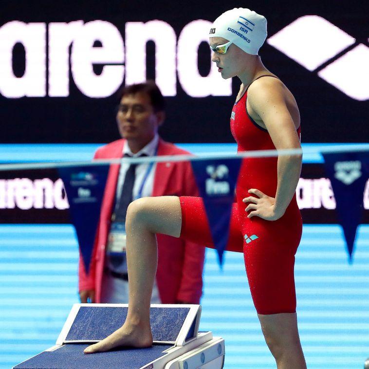 אנסטסיה גורבנקו. קבעה שיא ישראל חדש (סימונה קסטרווילארי, באדיבות איגוד השחייה)