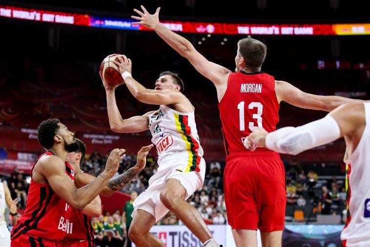 ניצחון שני לנבחרת ליטא בטורניר. (Zhizhao Wu/Getty Images)