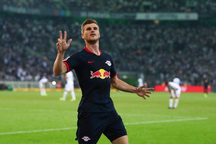 חמישה שערים בשלושה משחקים עד כה. טימו ורנר (Lars Baron/Bongarts/Getty Images)