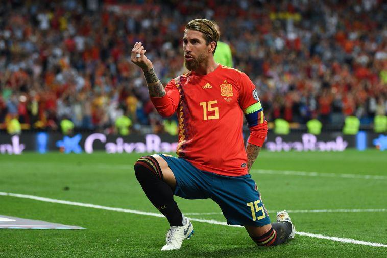 סרחיו ראמוס. ייעדר מהמשחק, אך המריא לשוודיה כדי לתמוך בנבחרתו (David Ramos/Getty Images)