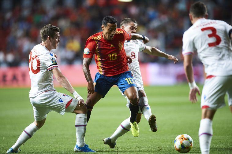 תיאגו. השחקן המרכזי של ספרד במחצית הראשונה (Juan Manuel Serrano Arce/Getty Images)