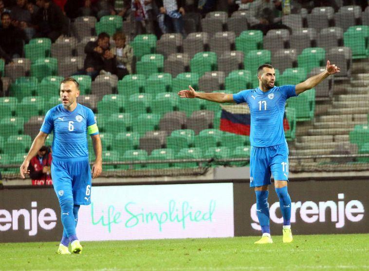 ערב עגום לנבחרת ישראל בסלובניה. (אודי ציטיאט, סלובניה)