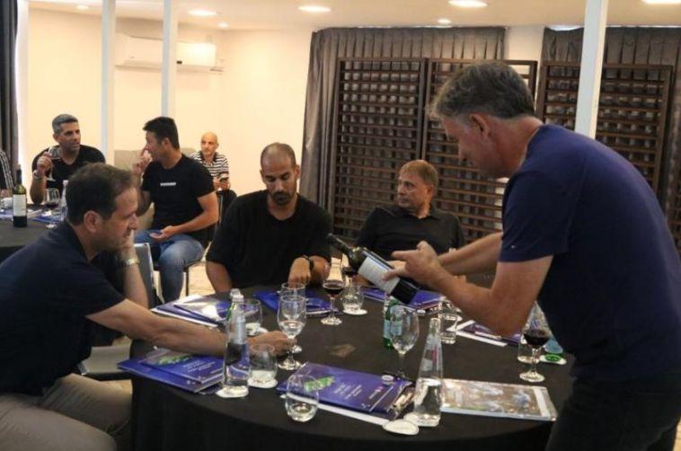 רוטנשטיינר עם רוני לוי, גל אלברמן ואלישע לוי(ההתאחדות לכדורגל)