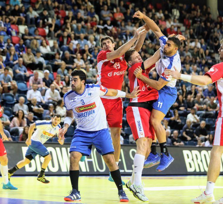 ניבו לוי ודניאל שקלים במוקדמות אליפות אירופה (הדר ואן קולא איגוד הכדוריד)