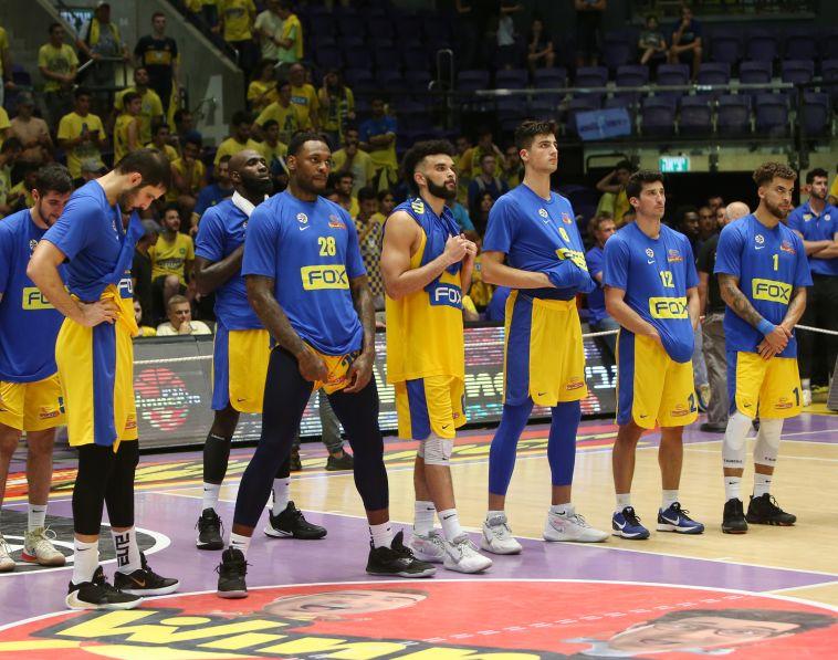 התחלה מאכזבת לעונה. שחקני מכבי תל אביב לאחר ההפסד (אודי ציטיאט)