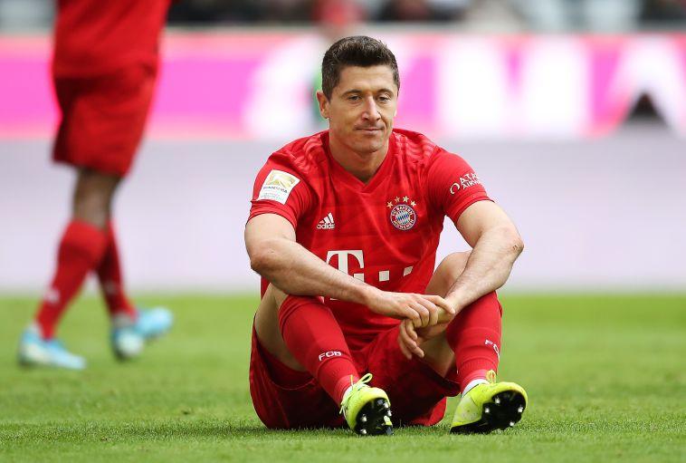 רוברט לבנדובסקי. החלוץ הפולני כבש אך נותר מאוכזב (Christian Kaspar-Bartke/Bongarts/Getty Images)