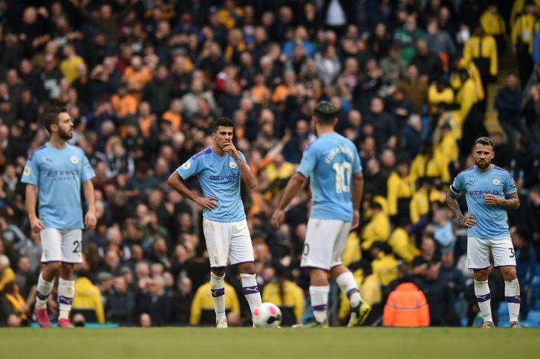 אכזבה גדולה בקרב שחקני מנצ'סטר סיטי אחרי המחזור השמיני (OLI SCARFF/AFP via Getty Images)