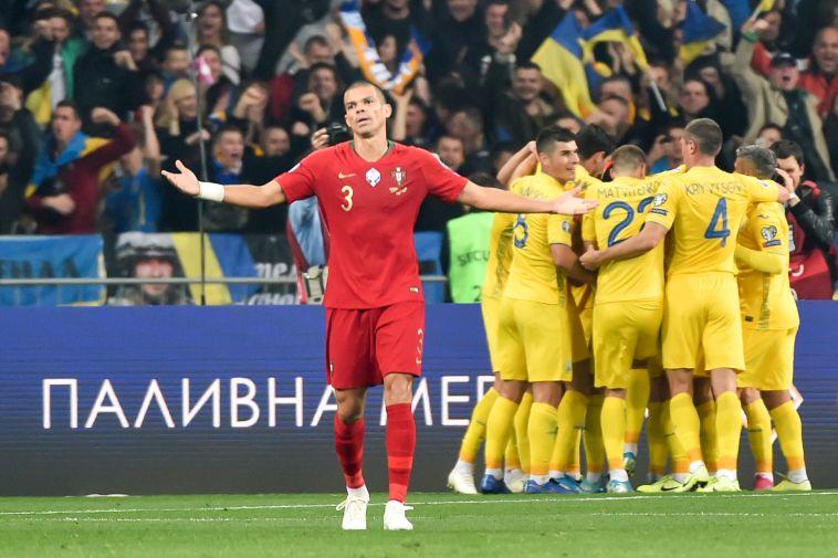האוקראינים חוגגים, הפורטוגלים בהלם מוחלט (GENYA SAVILOV/AFP via Getty Images)